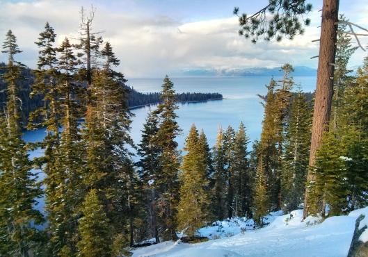 Wenigstens noch ein Blick auf den Lake Tahoe!
