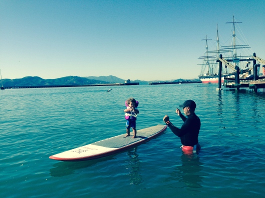 Sommer in San Francisco: Paddelboarding